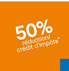 réduction 50% d'impôts