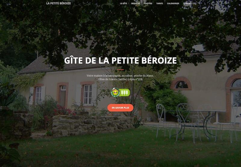 Site internet Gîte la petite Béroize