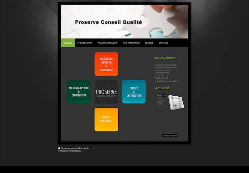 Site internet Proserve Qualité